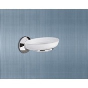 Soap Dish Wall Mounted Frosted Glass Soap Dish With Chrome Holder Gedy 2711-06-13
