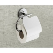 Toilet Paper Holder Polished Chrome Toilet Roll Holder With Cover Gedy 4225-13