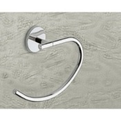 Towel Ring Curved Polished Chrome Towel Ring Gedy 4270-13