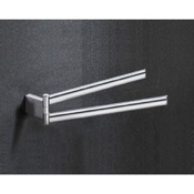 Swivel Towel Bar 14 Inch Chrome Double Arm Swivel Towel Bar Gedy 5523-13