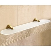 Bathroom Shelf Frosted Glass Bathroom Shelf With Bronze Holder Gedy 7519-60-44