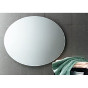 Vanity Mirror 30 x 22 Inch Round Wall Mounted Vanity Mirror Gedy 2575-13
