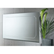 Vanity Mirror 39 x 23 Inch Vanity Mirror with Engraved Border Gedy 2597-13