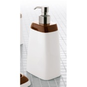 Soap Dispenser Free Standing White Soap Dispenser with Moka Top Gedy 3281-54