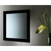 Vanity Mirror 24 x 28 Inch Black Vanity Mirror With Lacquered Frame Gedy 7800-14