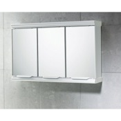 Medicine Cabinet Chrome Cabinet with 3 Mirrored Doors Gedy 8047-13