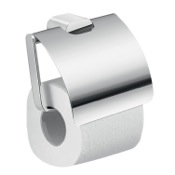 Toilet Paper Holder Modern Brass and Cromall Square Toilet Paper Holder with Cover Gedy A125-13