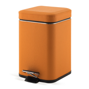 Waste Basket Square Orange Waste Bin With Pedal Gedy 2209-67