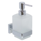 Soap Dispenser Wall Frosted Glass Soap Dispenser With Chrome Mounting Gedy A081-13
