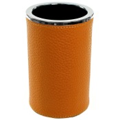 Toothbrush Holder Round Toothbrush Holder Made From Faux Leather Availabe in Three Finishes Gedy AC98