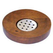 Soap Dish Round Walnut Soap Holder Gedy ER11-30
