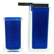 Bathroom Accessory Set Blue Two Pc. Accessory Set Made With Thermoplastic Resins Gedy RA680-05