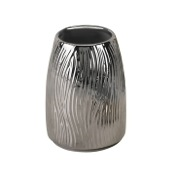 Toothbrush Holder Round Silver Pottery Toothbrush Holder Gedy JA98-13