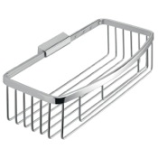 Shower Basket Rectangular Chromed Stainless Steel Wire Shower Basket Gedy S018-13