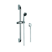 Handheld Showerhead Chrome Shower Solution with Hand Shower, Sliding Rail, and Water Connection Gedy SUP1043