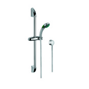 Handheld Showerhead Shower Solution with Chromed Hand Shower, Sliding Rail and Water Connection Gedy SUP1045