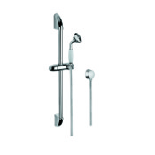 Handheld Showerhead Chrome Shower System with Hand Shower, Water Connection, and Sliding Rail Gedy SUP1047