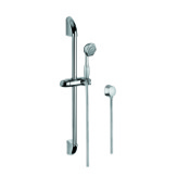 Handheld Showerhead Chrome Shower Solution with Hand Shower, Sliding Rail, and Water Connection Gedy SUP1048