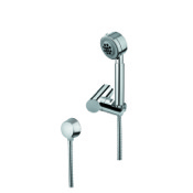 Handheld Showerhead Chrome Hand Shower with Shower Holder and Water Connection Gedy SUP1067