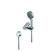 Handheld Showerhead Hand Shower, Shower Holder, and Water Connection In Chrome Finish Gedy SUP1070