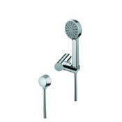 Handheld Showerhead Chrome Shower, Shower Holder, and Water Connection Gedy SUP1080
