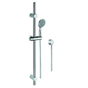 Handheld Showerhead Chrome Hand Shower, Water Connection, and Sliding Rail Gedy SUP1116