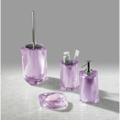 Bathroom Accessory Set Twist Lilac Accessory Set of Thermoplastic Resins Gedy TW100-79