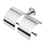 Toilet Paper Holder Chrome Double Toilet Roll Holder with Cover Geesa 148