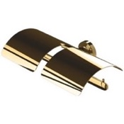 Toilet Paper Holder Wall Mounted Gold Brass Toilet Paper Holder Geesa 7318-04