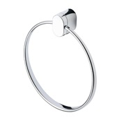 Towel Ring Round Wall Mounted Chrome Towel Ring Geesa 4504-02