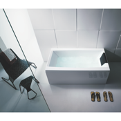 Bathtub White Rectangular Bathub With 3 Panels Glass PP000A0-3