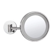 Makeup Mirror Wall Mounted Single Face 3x Makeup Mirror with LED, Hardwired Nameeks AR7704