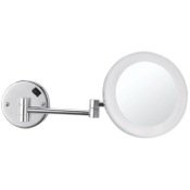 Makeup Mirror Round Wall Mounted 3x Makeup Mirror with LED, Hardwired Nameeks AR7706