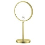 Makeup Mirror Gold Double Sided Free Standing 3x Makeup Mirror Nameeks AR7716-O-3x