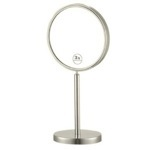 Makeup Mirror Satin Nickel Double Sided Free Standing 3x Makeup Mirror Nameeks AR7716-SNI-3x