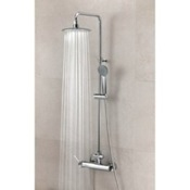 Exposed Pipe Shower Wall Mounted Shower Column with Hand Shower Set and Rainhead Ramon Soler US-3358RPN