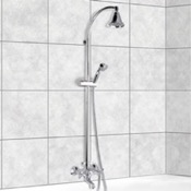 Showerpipe Systems Chrome Wall Mounted Showerpipe System Remer 09LI