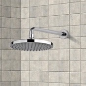Shower Head Rain Shower Head and 12 Inch Stainless Steel Shower Arm In Chrome Finish Gedy SUP1125