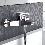 Tub Filler Wall-Mounted Bath And Shower Diverter In Chrome Finish Remer L05US