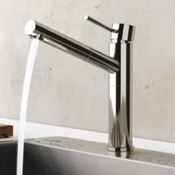 Kitchen Faucet Chrome Sink Faucet With Pull-Out Spout Remer N47