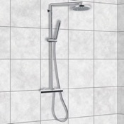 Exposed Pipe Shower External Single Lever Thermostatic Shower Set with Hand Shower and Shower Head Remer NT37BUS