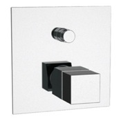 Diverter Built in Thermostatic Bath Shower Mixer In Chrome Remer QT09US