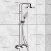 Exposed Pipe Shower Chrome Thermostatic Exposed Pipe Shower System with 8