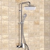 Exposed Pipe Shower Chrome Exposed Pipe Shower System with 10