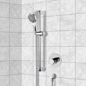 Shower Faucet Chrome Thermostatic Slidebar Shower Set With Multi Function Hand Shower Remer SR047