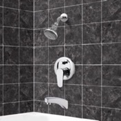 Tub and Shower Faucet Chrome Tub and Shower Faucet Sets with Adjustable Shower Head Remer TSF2056