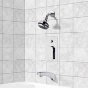Tub and Shower Faucet Chrome Tub and Shower Faucet Sets wit Multi Function Shower Head Remer TSF2080