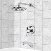 Tub and Shower Faucet Tub and Shower Faucet Sets with 8