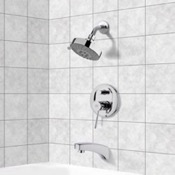 Tub and Shower Faucet Chrome Tub and Shower Faucet Sets with Multi Function Shower Head Remer TSF2203