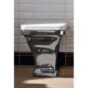 Toilet White Modern Ceramic Floor Toilet Scarabeo 4008